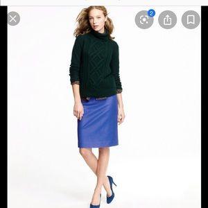 Jcrew no. 2 wool pencil skirt in cobalt color